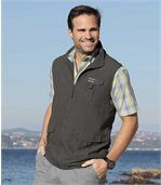Gilet sans manches Homme Anthracite Microfibre Multipoches