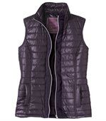 Women's Purple Quilted Gilet preview2