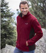 Pack of 2 Men's Atlas® Polar Fleece Jackets - Burgundy Grey