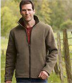 Fleecová bunda s umělou kožešinou preview1