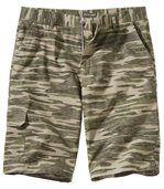Men's Khaki Shorts - Camouflage Motif preview1