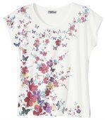 T-Shirt Blumen und Schmetterlinge preview2
