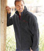 Men's Grey Breathable Fleece Jacket - Cap Canada preview1