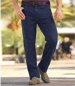 Pack of 2 Men's Stretch Jeans - Black Blue