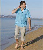 3/4 kalhoty z mikrovlákna s prostornými kapsami Freedom preview2