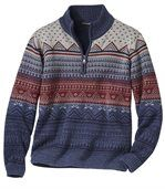 Men's Knitted Jacquard Jumper preview3