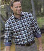 Men's Blue Manitoba Flannel Shirt