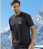 Pack of 3 Men's Black Sporting Line T-Shirts preview2