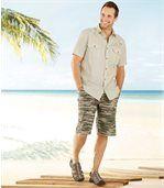 Men's Khaki Shorts - Camouflage Motif preview2