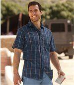 Popelínová kockovaná košeľa preview1