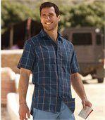 Popelínová kostkovaná košile preview1