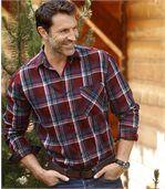 Károvaná flanelová košeľa Woods preview1