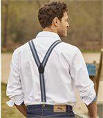 Men's Blue Pioneer-Style Braces