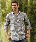 Camouflage hemd van popeline preview1