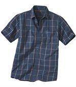 Popelínová kockovaná košeľa preview2