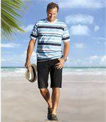 Der 2er-Pack Jeans-Bermudas Blue and Black preview3