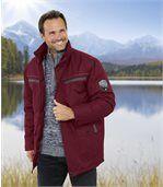 Men's Bordeaux Multi-Pocket Parka - Canada Nature
