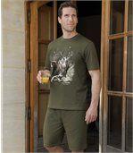 Krótka piżama z nadrukiem preview1