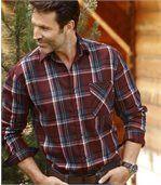 Károvaná flanelová košeľa Woods preview3