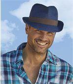 Men's Navy Dual-Colour Summer Hat