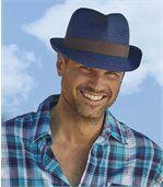 Tweekleurige hoed in Trilby-stijl preview2