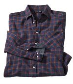 Men's Blue Checked Flannel Shirt - Winter Valley preview2
