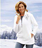 Bluza z polaru i trykotu z warkoczami preview1