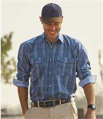 Men's Blue Hill Checked Poplin Shirt preview2