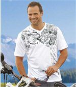 Pack of 2 Men's T-Shirts - White Black  preview2