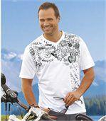 Pack of 2 Men's Biker Print T-Shirts