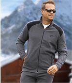 Men's Grey Comfortable Fleece Tracksuit