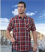 Kostkovaná košile s krepovým efektem preview1
