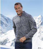 Melierter Strick-Pullover Winter mit Rollkragen preview1
