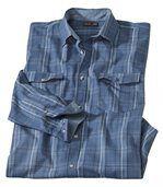 Kockovaná popelínová košeľa Blue Hill