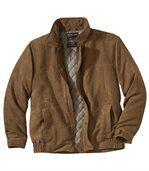 Pikowana kurtka ze sztucznego zamszu preview2