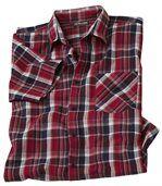Kockovaná košeľas krepovým efektom preview2