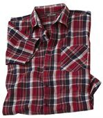 Men's Checked Short Sleeve Shirt