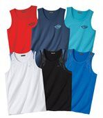 Pack of 6 Holiday Vests