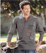 Set van 2 T-shirtsComfortabele uitlopende hals preview2