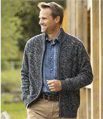 Pletený sveter na zips City Lake
