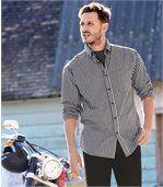Popelínová kockovaná košeľa Vichy preview1