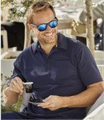 Pack of 3 Men's Summer Polo Shirts - Navy Turquoise Coral preview3