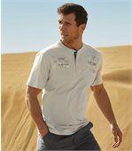 2er-Pack T-Shirts Abenteurer mit Henley-Kragen preview3