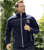 Men's Navy Blue Fleece-Lined Tracksuit