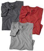 Lot de 3 Tee-Shirts Col Grand-Père preview1