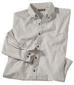 Prúžkovaná popelínová košeľa preview2