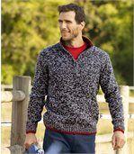 Sportovní melírovaný pulovr