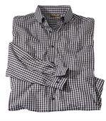 Popelínová kockovaná košeľa Vichy preview2