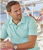 Pack of 3 Men's Summer Polo Shirts - Navy Turquoise Coral preview4