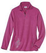 Pullover aus Microfleece mit RV-Kragen preview2